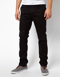 Diesel Chinos Chi Tight E Slim Fit Washed Black