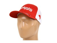 Columbia Pfg Mesh Ball Cap Sail Red White Caps