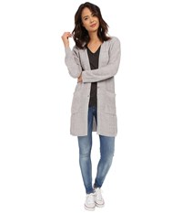 Obey Duster Cardigan Grey Women's Sweater Gray