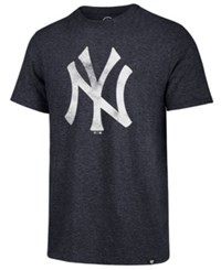 47 Brand '47 Men's New York Yankees Coop Triblend Match T Shirt Navy