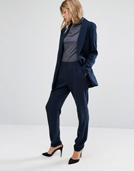 Vero Moda Tailored Peg Trousers Navy