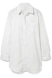 Three J Nyc Grace Printed Cotton Flannel Nightdress White