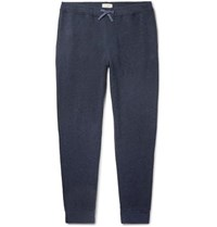 Oliver Spencer Loungewear Ribbed Cotton Jersey Sweatpants Navy