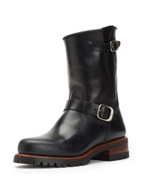 Frye Addison Water Resistant Lugged Engineer Boot Black