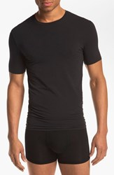 Men's Tommy John 'Cool Cotton' Pima Cotton Crewneck T Shirt Black