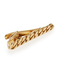 Lanvin Gold Curb Chain Tie Bar
