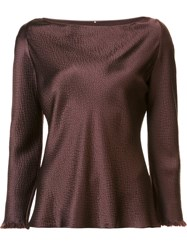 Peter Cohen Boat Neck Blouse Red