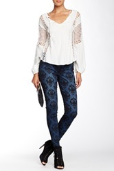 Cj By Cookie Johnson Stamp Print Joy Legging Blue