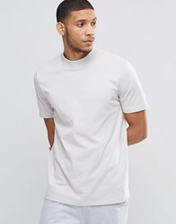 Asos Loungewear Skater T Shirt With Turtle Neck White