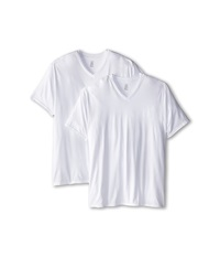 Calvin Klein Underwear Big Tall Basic V Neck 2 Pack White Men's Clothing