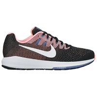 Nike Air Zoom Structured 20 Women's Running Shoes Black White Lava Glow