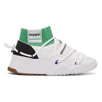 Adidas By Alexander Wang Originals White Puff High Top Sneakers