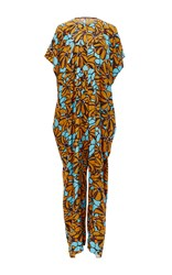 Tome Floral Printed Oversized Jumpsuit Blue