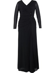 Chesca Ruched Bodice Jewel Dress Black