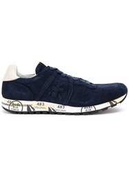 Premiata White Eric Sneakers Calf Leather Goat Skin Pig Leather Rubber Blue
