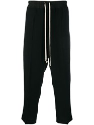 Rick Owens Dropped Crotch Casual Trousers Black