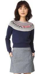 Sonia Rykiel Fair Isle Paris Sweater Midnight