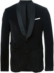 Neil Barrett Contrast Lapel Dinner Jacket Black