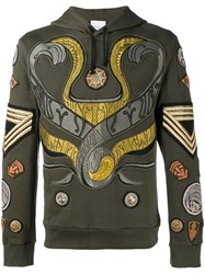 Dries Van Noten Harding Embroidered Hoodie Green