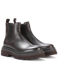 Brunello Cucinelli Leather Chelsea Boots Brown