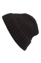 Andrew Stewart Men's Rib Knit Wool And Cashmere Beanie