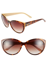 Lilly Pulitzer 'Camden' 60Mm Cat Eye Sunglasses Tortoise Gold Laminate