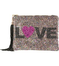 Lisa Bea Love Sparkle Small Leather Pouch