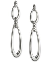 Nambe Open Link Double Drop Earrings In Sterling Silver Only At Macy's