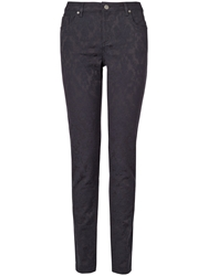 Phase Eight Victoria Jacquard Skinny Jeans Blue Black