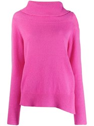 Pinko Cut Out Roll Neck Jumper Pink