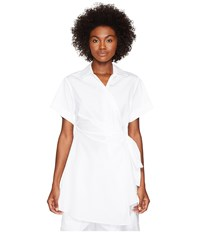 Sportmax Lina Collared Wrap Shirt White Women's Short Sleeve Button Up