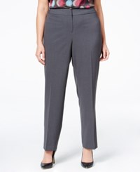 Nine West Plus Size Straight Leg Pants Granite