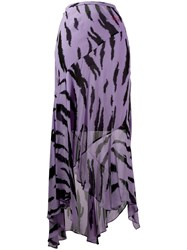 Philosophy Di Lorenzo Serafini Asymmetric Maxi Skirt Purple
