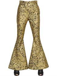 Ellery Flared Lurex Lace Brocade Pants