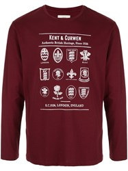 Kent And Curwen Long Sleeved Cotton T Shirt Red
