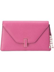 Valextra Envelope Clutch Pink And Purple