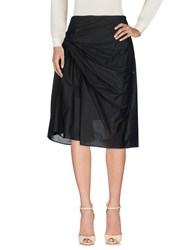 Haute 3 4 Length Skirts Black