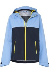 Tory Sport Color Block Shell Hooded Jacket Blue