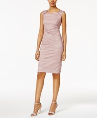 Jessica Howard Embellished Ruched Sheath Dress Rose