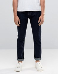 Bellfield Slim Fit Jeans In Indigo Denim Blue