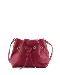 Peyton Snake Embossed Leather Bucket Bag Peony Lauren Merkin