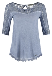 Khujo Josephine Basic Tshirt Washed Blue