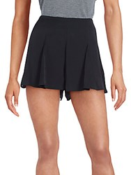 Minkpink Solid Pleated Shorts Black