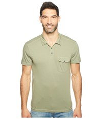 Agave Spicoli Short Sleeve Rugby Polo Supima Modal Deep Lichen Green Men's Short Sleeve Pullover