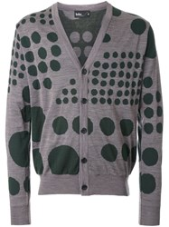 Kolor Dot Pattern Cardigan Grey