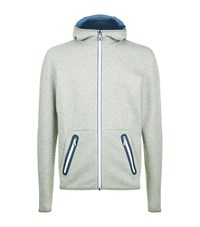 Hugo Boss Green Skeach Tech Hoody Male Grey