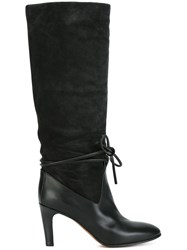 Chloe Ankle Tie Boots Black