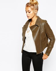 Barney's Originals Short Jacket With Single Pocket Detail Khaki