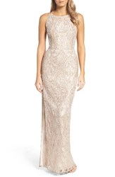 Aidan Mattox Women's Embellished Lace Column Gown