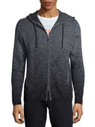 John Varvatos Cotton And Wool Blend Hoodie Dark Charcoal